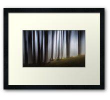 Spooky woodland Framed Print