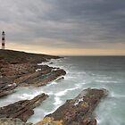 Tarbat Ness Lighthouse as Sunset by Maria Gaellman
