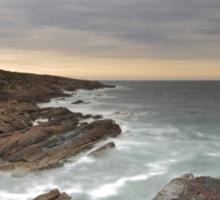Tarbat Ness Lighthouse as Sunset Sticker