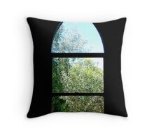 chapel window Throw Pillow