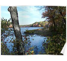Autumn in Rhode Island   Barbers Pond Poster