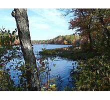 Autumn in Rhode Island | Barbers Pond Photographic Print