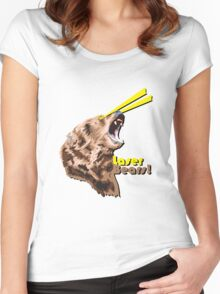 Laser Bears Women's Fitted Scoop T-Shirt