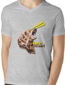 Laser Bears Mens V-Neck T-Shirt