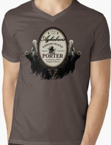 Azkaban's Siriusly Black Porter Mens V-Neck T-Shirt