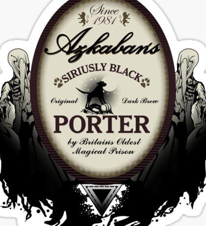 Azkaban's Siriusly Black Porter Sticker