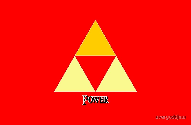 Quot Triforce Of Power Quot Laptop Skins By Averyoddjew Redbubble
