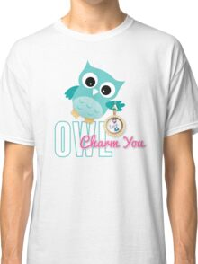 Owl Charm You Teal Owl Classic T-Shirt