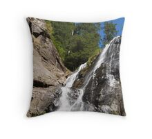 view from below-silver falls Throw Pillow