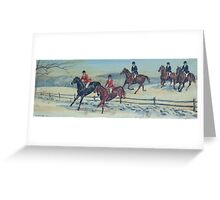 Snowy Hunt Scene Greeting Card