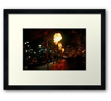 Crown Flames Framed Print
