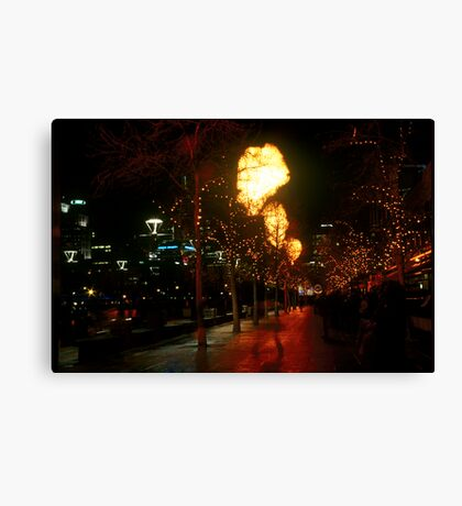 Crown Flames Canvas Print