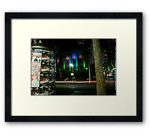 Mixture in City Framed Print