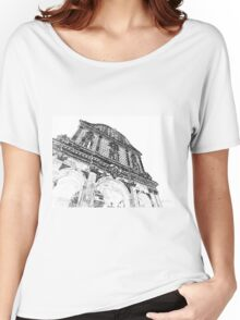 Sassari: facade of the cathedral Women's Relaxed Fit T-Shirt