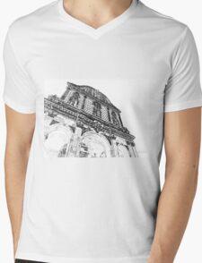 Sassari: facade of the cathedral Mens V-Neck T-Shirt