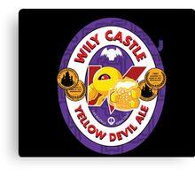 Wily Castle Yellow Devil Ale Canvas Print
