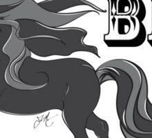 Keep your little black Dress, I need a Big Black Horse Sticker
