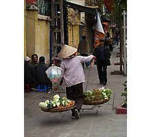 vegetables over the shoulder : 535 views Photographic Print