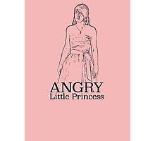 Angry Little Princess Photographic Print
