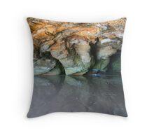 Caves Beach 3 Throw Pillow