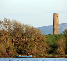 Inniscealtra round tower by John Quinn
