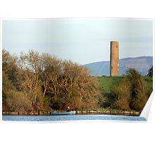Inniscealtra round tower Poster