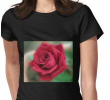 Dreamy Red Rose Womens Fitted T-Shirt