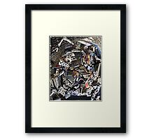 Analogue Technodelic, Sound Engineering Collage Framed Print