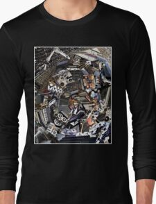 Analogue Technodelic, Sound Engineering Collage Long Sleeve T-Shirt