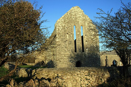 Corcomroe abbey ruins by John Quinn
