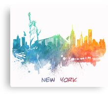 New York City skyline colored Canvas Print