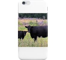Angus Cow and Calf iPhone Case/Skin