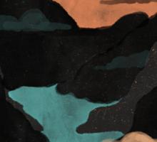 Moonlit Gorge... Sticker