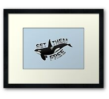 """Set Them Free"" Framed Print"