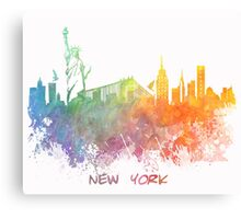 New York City colored skyline Canvas Print