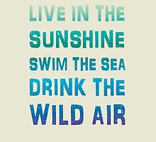 Live in the sunshine summer poster by vinainna