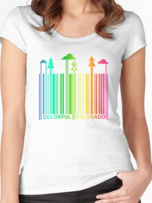 COLORFUL COLORADO Women's Fitted Scoop T-Shirt