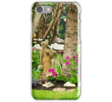Garden Girl In Digital Oil  iPhone Case/Skin