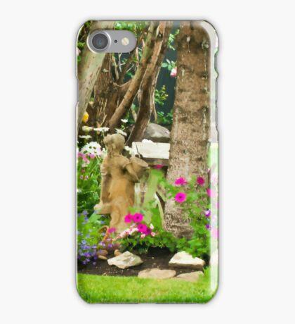 Garden Girl In Digital Oil  iPhone Case/Skin