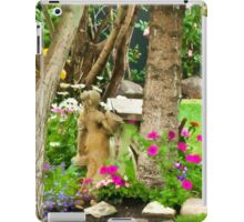 Garden Girl In Digital Oil  iPad Case/Skin