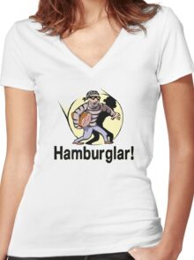 Hamburglar! Women's Fitted V-Neck T-Shirt