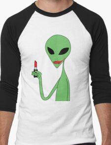 lipstick alien Men's Baseball ¾ T-Shirt