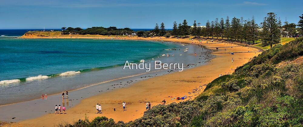 Cosy Corner, Torquay Front Beach, Victoria, Australia by Andy Berry