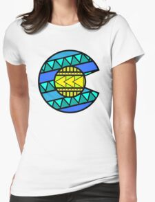 Colorado Tribal Flag: Blues Womens Fitted T-Shirt