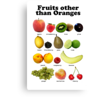 Fruits Other Than Oranges Wall-chart Canvas Print