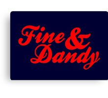 Fine & Dandy Extras: Navy & Red Canvas Print