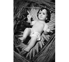Jesus in the crib Photographic Print