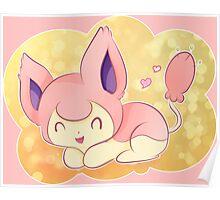 Skitty the Kitten Pokemon Poster