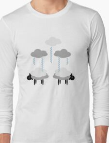Wooly Weather - Sweater Weather - Sheep Rain Clouds Long Sleeve T-Shirt