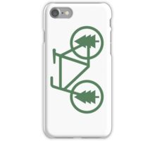 Pacific Northwest Bike - Pine Tree Bicycle - Cycling iPhone Case/Skin